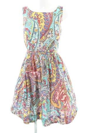 Derhy A-Linien Kleid abstraktes Muster Casual-Look