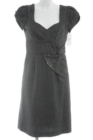Derhy Sheath Dress black-white flecked elegant