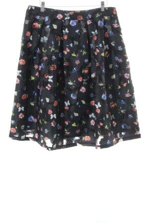 Derhy Plaid Skirt animal pattern elegant