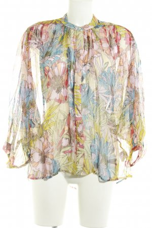 Derhy Langarm-Bluse abstraktes Muster 70ies-Stil