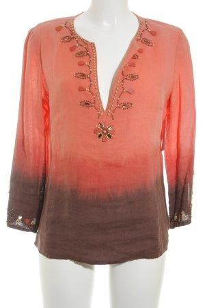 Derhy Schlupf-Bluse mehrfarbig Casual-Look