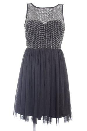Derhy Trägerkleid schwarz florales Muster Romantik-Look