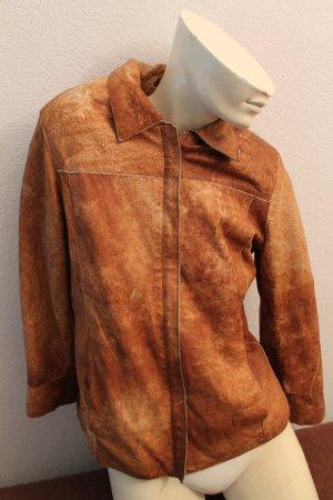 Dersado Collection Leder Damen Jacke Gr. 36/S/M wie neu weich Leder Braun