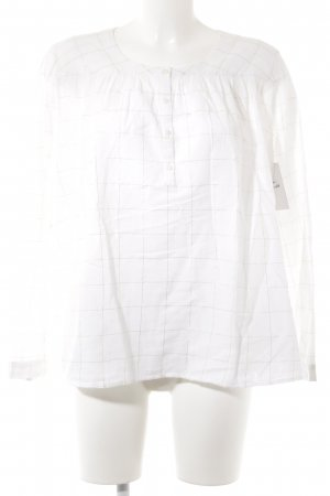 Des Petits Hauts Langarm-Bluse weiß-goldfarben Streifenmuster Casual-Look