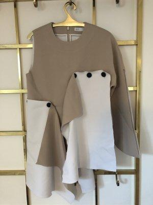 Asos White Camicia lunga marrone chiaro-bianco sporco
