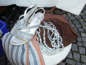 Sandalen met bandjes zilver