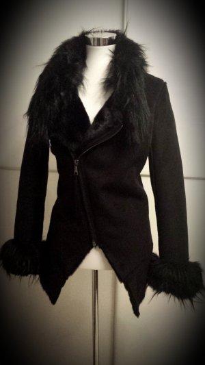 Fake Fur Jacket black fake fur