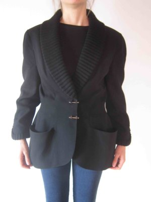 Thierry Mugler Denim Blazer black wool