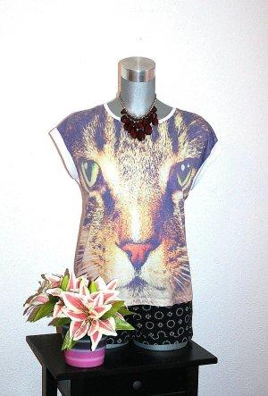 Design by CRO H&M Shirt Thirt gr. 42/44 M Katze Print