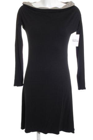 design thanh-thuy Jerseykleid schwarz-graubraun Casual-Look