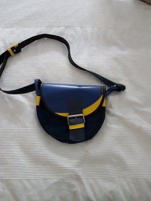 Borsetta giallo-blu scuro