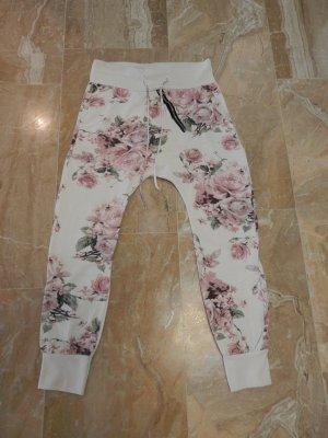 Pantalone fitness bianco Cotone