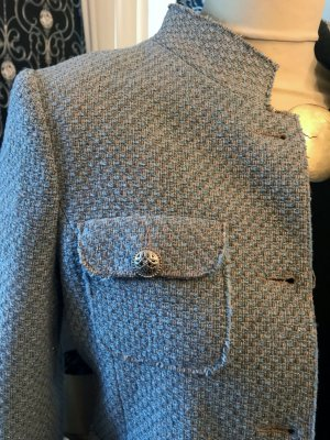 Wool Blazer azure-steel blue