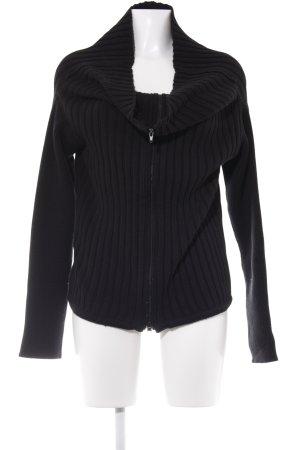 designer basics Cardigan schwarz Street-Fashion-Look