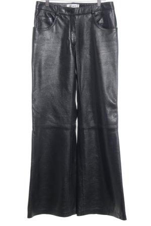 designer basics Lederhose schwarz extravaganter Stil