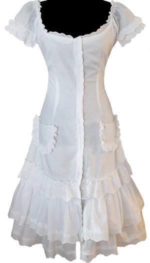 *  Designer  Batist  Midi-Kleid  *  Unikat  *  Gr. M  *