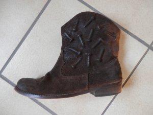 Designer Biker Vintage Western Boots Festival Punk Rock LEDER Stiefeletten