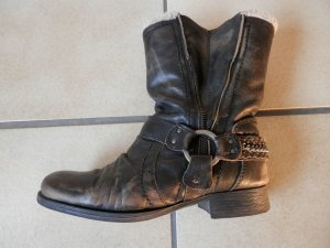 River Island Western Booties grey brown leather