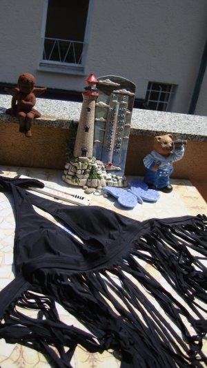 DESIGNER BIKINI-TOP FESTIVAL-TOP M/L/XL 38/40/42/44 SCHWARZ FRANSEN BOHO BOHEME HIPPIE COUNTRY WESTERN COWBOY COWGIRL VINTAGE-STYLE 70er...  NEU NEUPREIS 49,99€