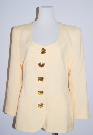 Designer Blazer - Jacke - Blogger - gelb von Yves Saint Laurent - Gr. 40
