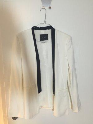 Designer Blazer Oui 36 S weiß schwarz