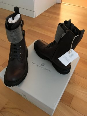 Designer Boots mit Perlen, Lammleder, Neu