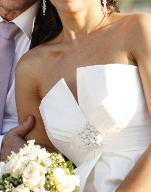 Designer Brautkleid, Seide, 36
