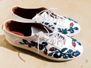 Sneakers met veters veelkleurig Leer