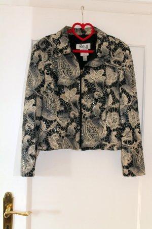 Designer Damenjacke grau weiß Ribkoff Gr. 40