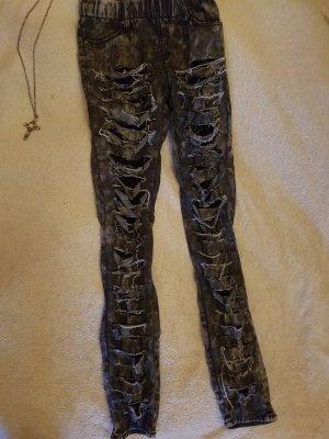 ♡ designer destroyed look leggings tokio ghost of harlem♡
