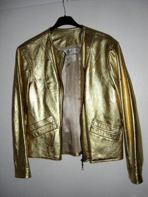 Designer Echtlederjacke goldfarben Stavros Couture Gr. 40/42