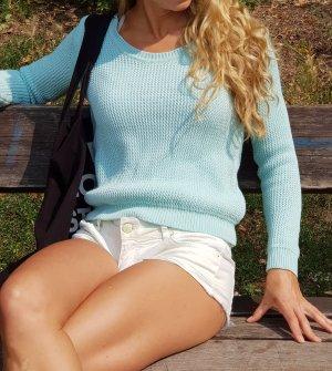 Designer grobstrick Sommer pullover jumper mint pastell Ibiza Festival coachella boho