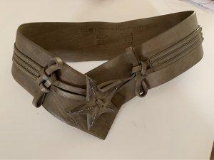 Marithé + Francois Girbaud Waist Belt grey brown-green grey