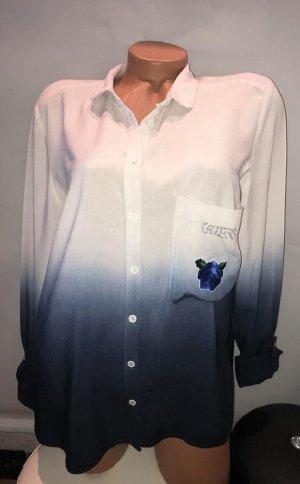 Designer Guess Bluse Tunika Hemd in gr 38 Farbverlauf Rose Strass