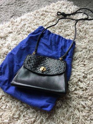 Mini sac bleu cuir