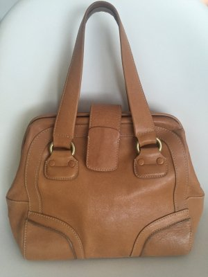 Adolfo Dominguez Handbag sand brown leather