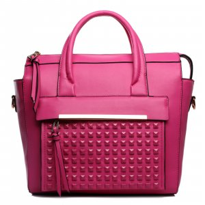 Carry Bag pink imitation leather