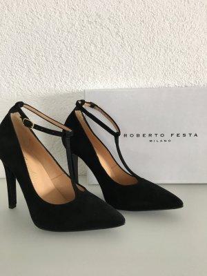 Designer High Heel aus Veloursleder von Roberto Festa