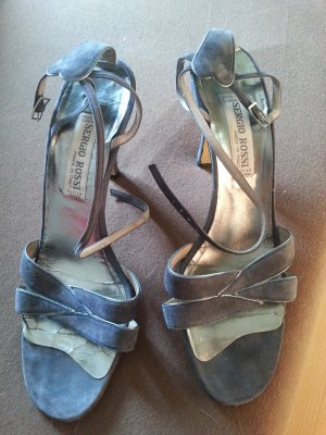 100% Fashion High Heel Sandal azure leather