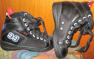 Designer Hightops, Basketballstiefel *US-Marke L. A. Gear* schwarz Gr.4=36