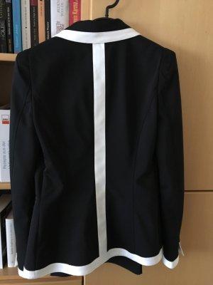 Atos Lombardini Traje de pantalón negro-blanco