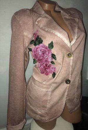 Designer Jacke in gr L Rose Farbverlauf Made in Italy