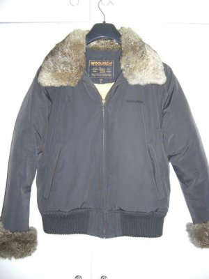 Designer Jacke mit echtem Fell und Daunen WOOLRICH Gr 40 L