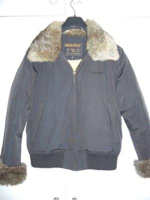 Woolrich Down Jacket dark blue cotton