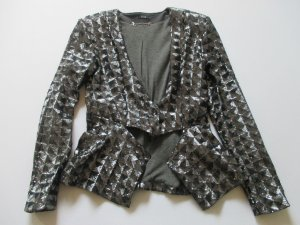 Tuxedo Blazer black-silver-colored