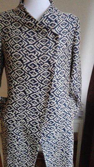 Tagliatore Long Jacket cream-dark blue