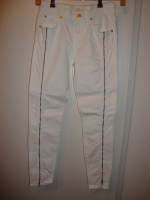 7 For All Mankind Skinny Jeans white-gold-colored