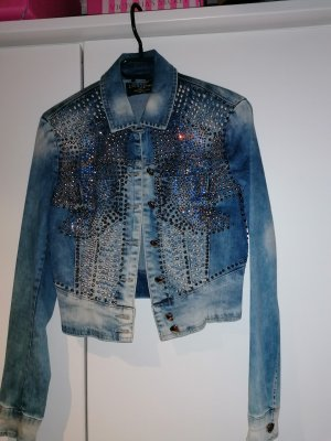 Made in Italy Veste en jean bleu azur