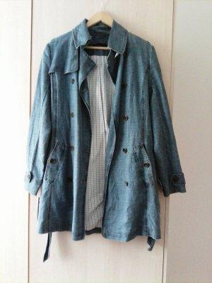 Designer Jeansmantel / Trenchcoat