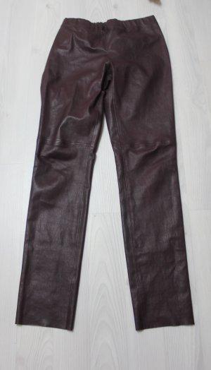 Designer JOSEPH Lammleder Hose Lederhose high waist gr 44 (42)